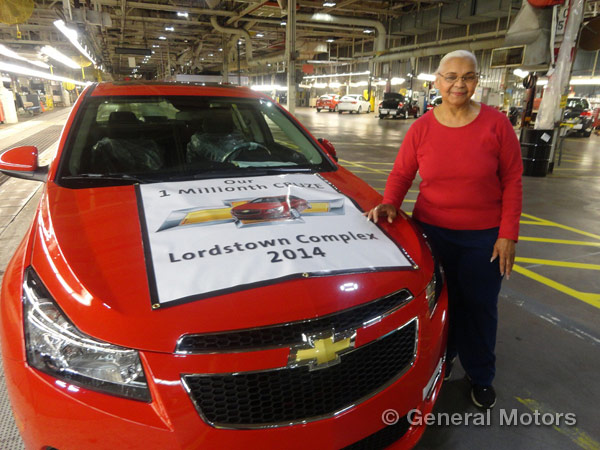 GM Invests $50 Million in Lordstown - 1 millionth Cruze