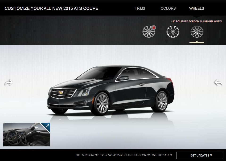 2015 Cadillac ATS Coupe Configurator
