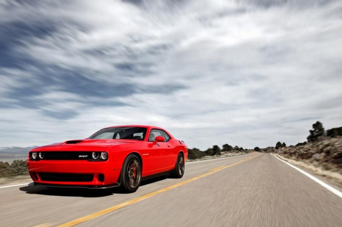The 2015 Dodge Challenger SRT Hellcat engine roared at the Midwest Automotive Media Association Rally in Wisconsin.
