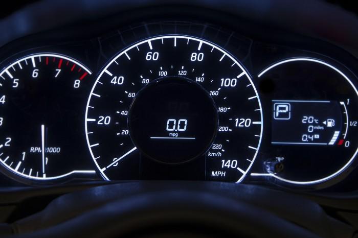 dashboard lights on instrument cluster - ways to spot a flood-damaged car