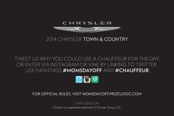 Mom's Day Off Chauffeur Contest