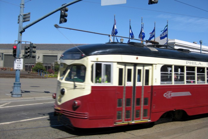 San Francisco bus trolley