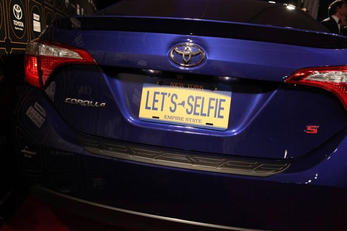 selfie-taking Corolla