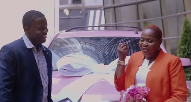 Teddy Bridgewater gives his mother the pink Cadillac Escalade