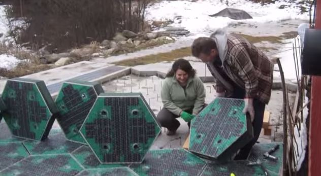 Installing the solar freakin' roadways.