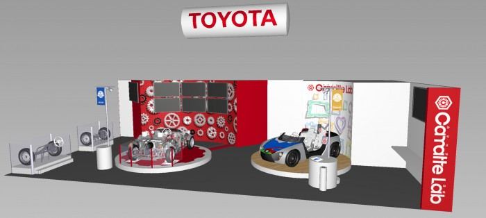 Toyota Camatte concept booth