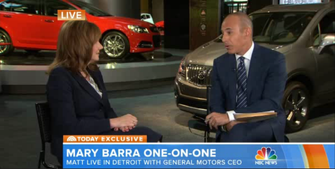 Mary Barra, Matt Lauer | Sergio Marchionne seeking FCA merger