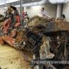 The incredibly damaged Mallet Hammer | 2009 Corvette Blue Devil Prototype