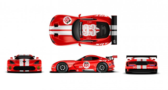 A look at the new Dodge Viper SRT GTS-R livery on the No. 93 car