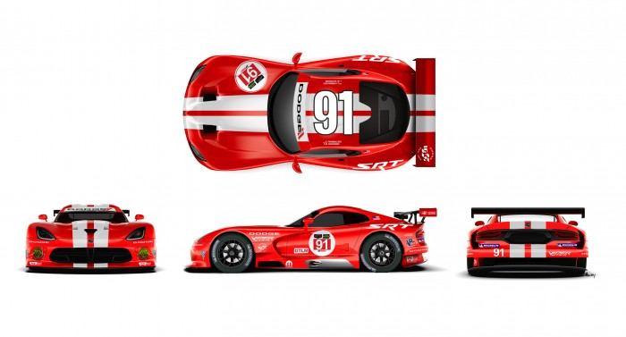 A look at the new Dodge Viper SRT GTS-R livery on the No. 91 car
