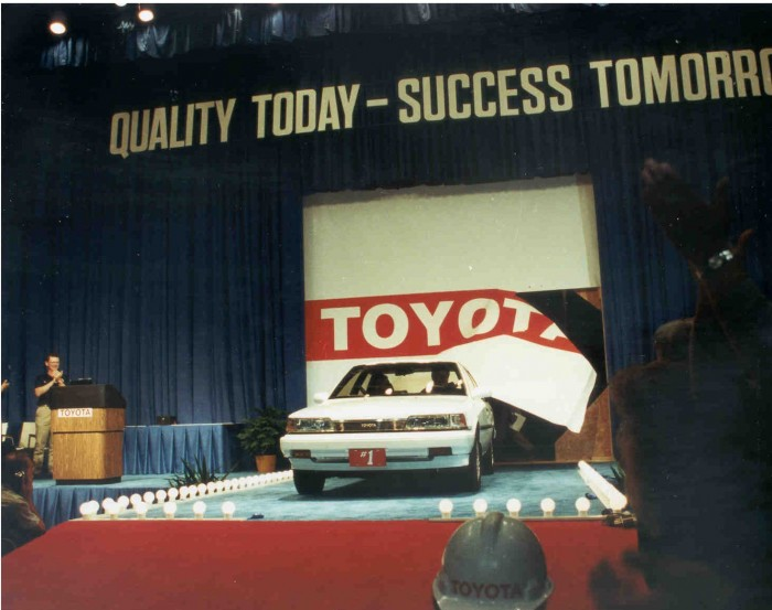 first ever car produced at Toyota's Georgetown, KY plant