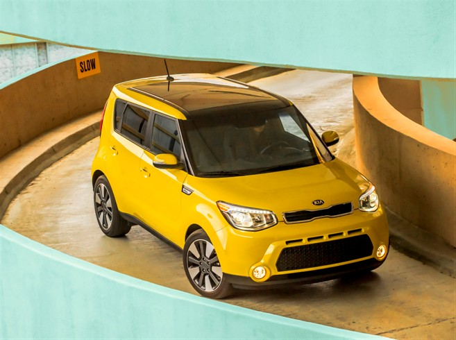 The 2015 Kia Soul, which is too cool for school (just kidding, it made the 10 Best Student Cars list, too!)