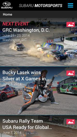 Subaru Motorsports app