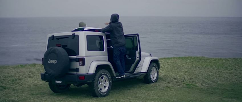 Surfing in the UK with a Jeep