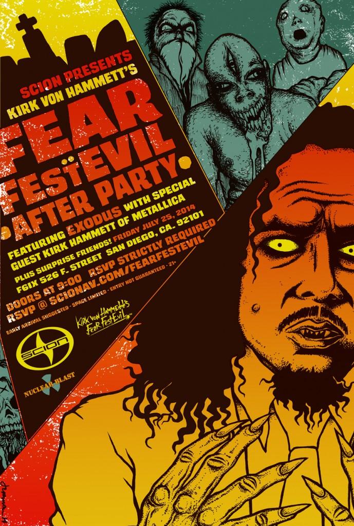 Kirk Hammett Fear FestEvil