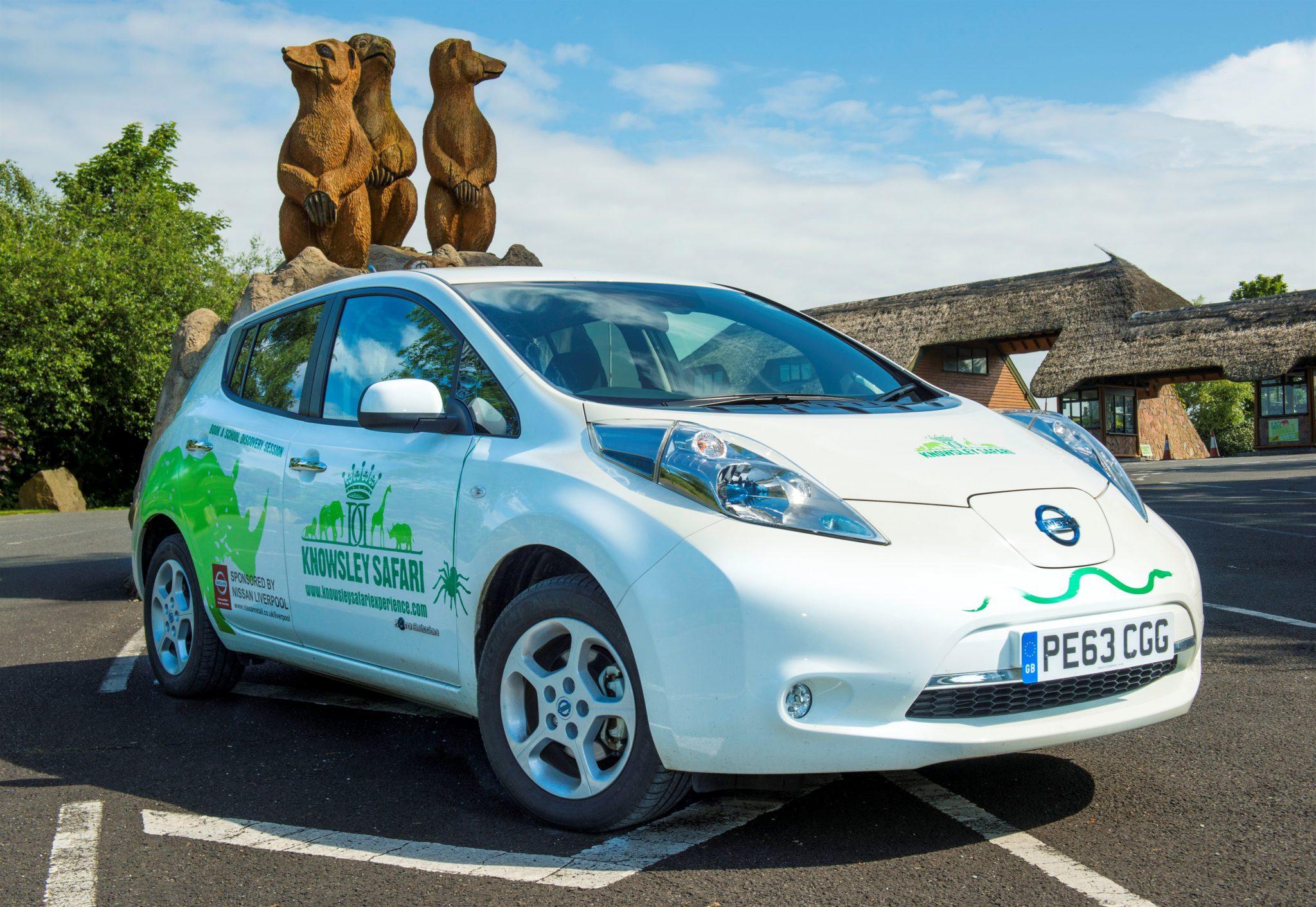 Nissan LEAF se va de safari en el Reino Unido