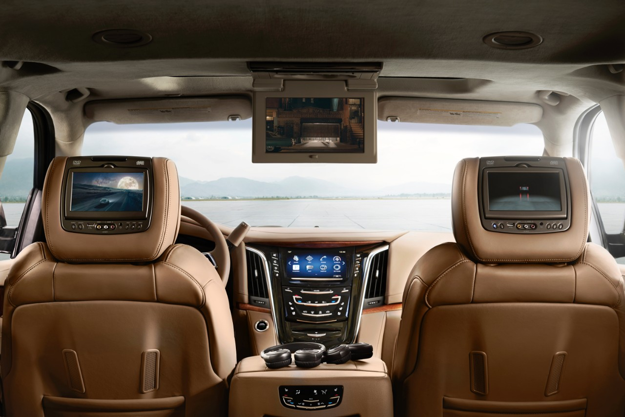 2015 Cadillac Escalade Platinum LCD screens