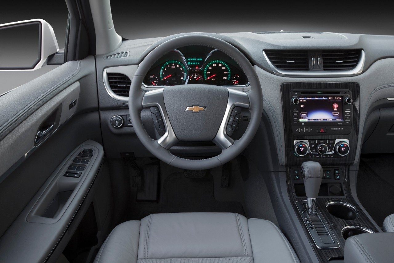 2015 chevrolet traverse ltz steering wheel interior grey driver the news wheel. Black Bedroom Furniture Sets. Home Design Ideas