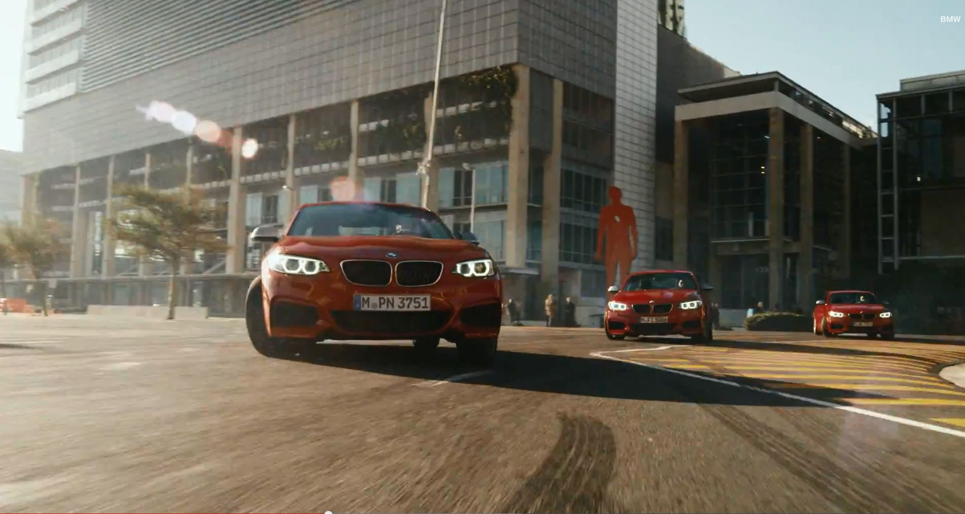 BMW M235i Drift Mob Car Front Red M235i two