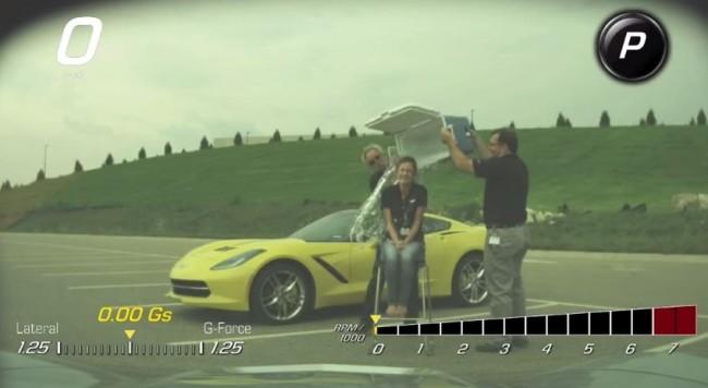 Corvette Performance Data Recorder films an ALS Ice Bucket Challenge