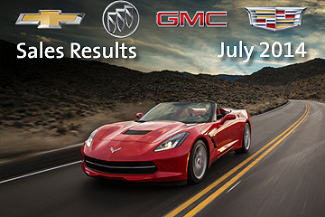 GM's July Sales, 2014