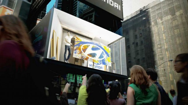 Hyundai Introduces New Interactive Billboard to Times Square