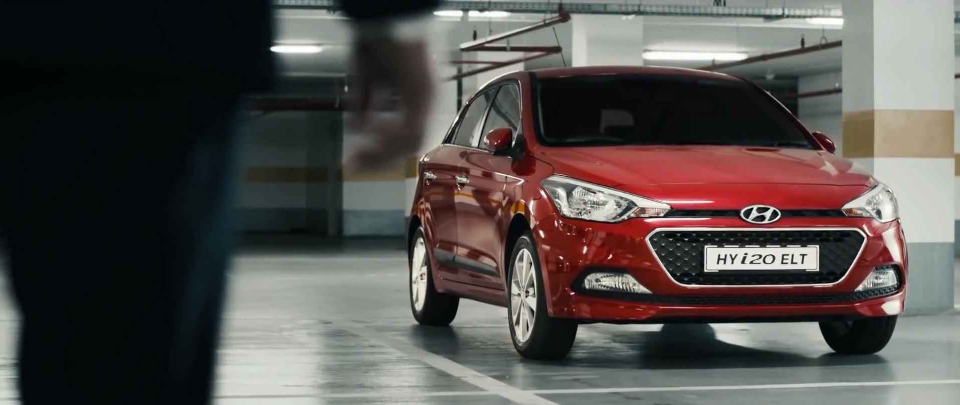 Hyundai India Elite i20 commerical red parking garange
