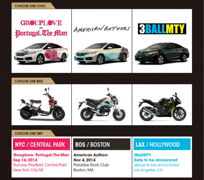 2014 Honda Civic Tour Sweepstakes