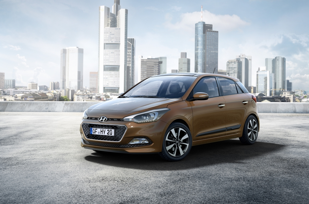 Images of the New Generation Hyundai i20 front outdoor bronze
