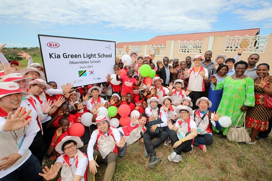 Kia Builds School in Malawi as Part of Green Light Project