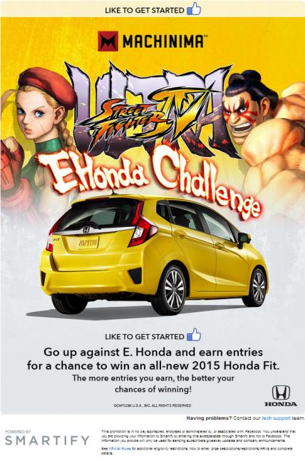 Machinima Ultra Street Fighter IV E. Honda Challenge Sweepstakes