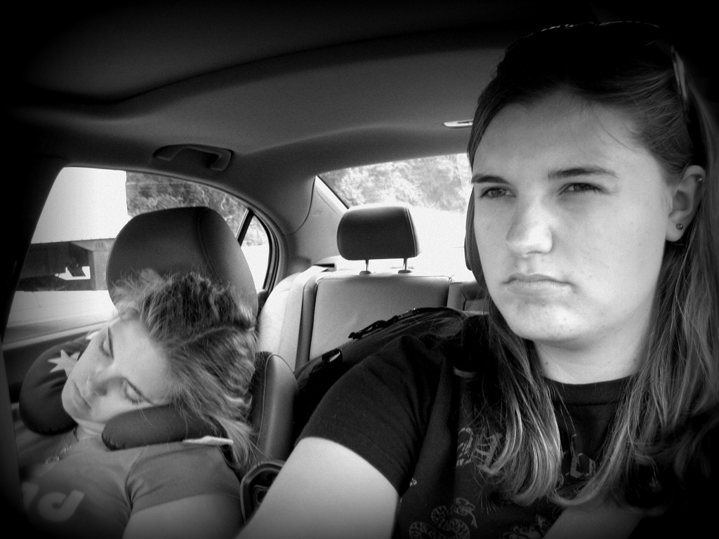 Staying awake while driving can be difficult when your passengers have dozed off. Photo: Cali4beach