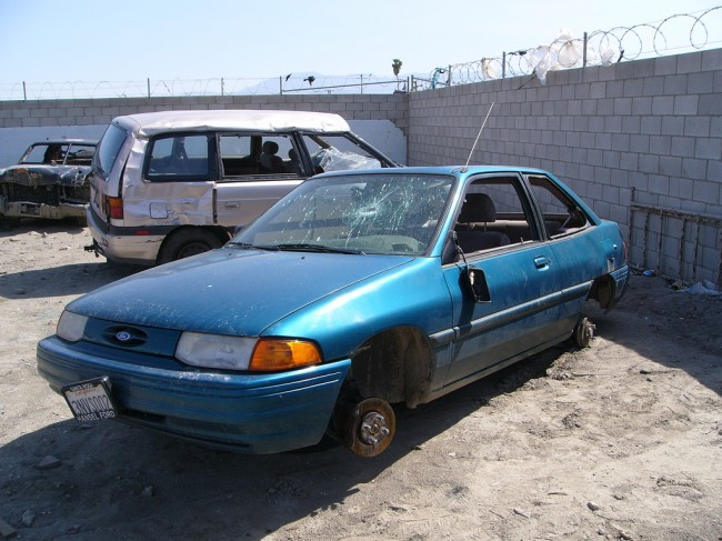 The Most-Stolen Cars Blue car Ford Junk Yard