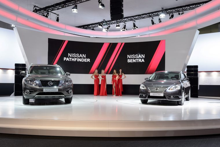 New Nissan Pathfinder, Sentra at Moscow Motor Show