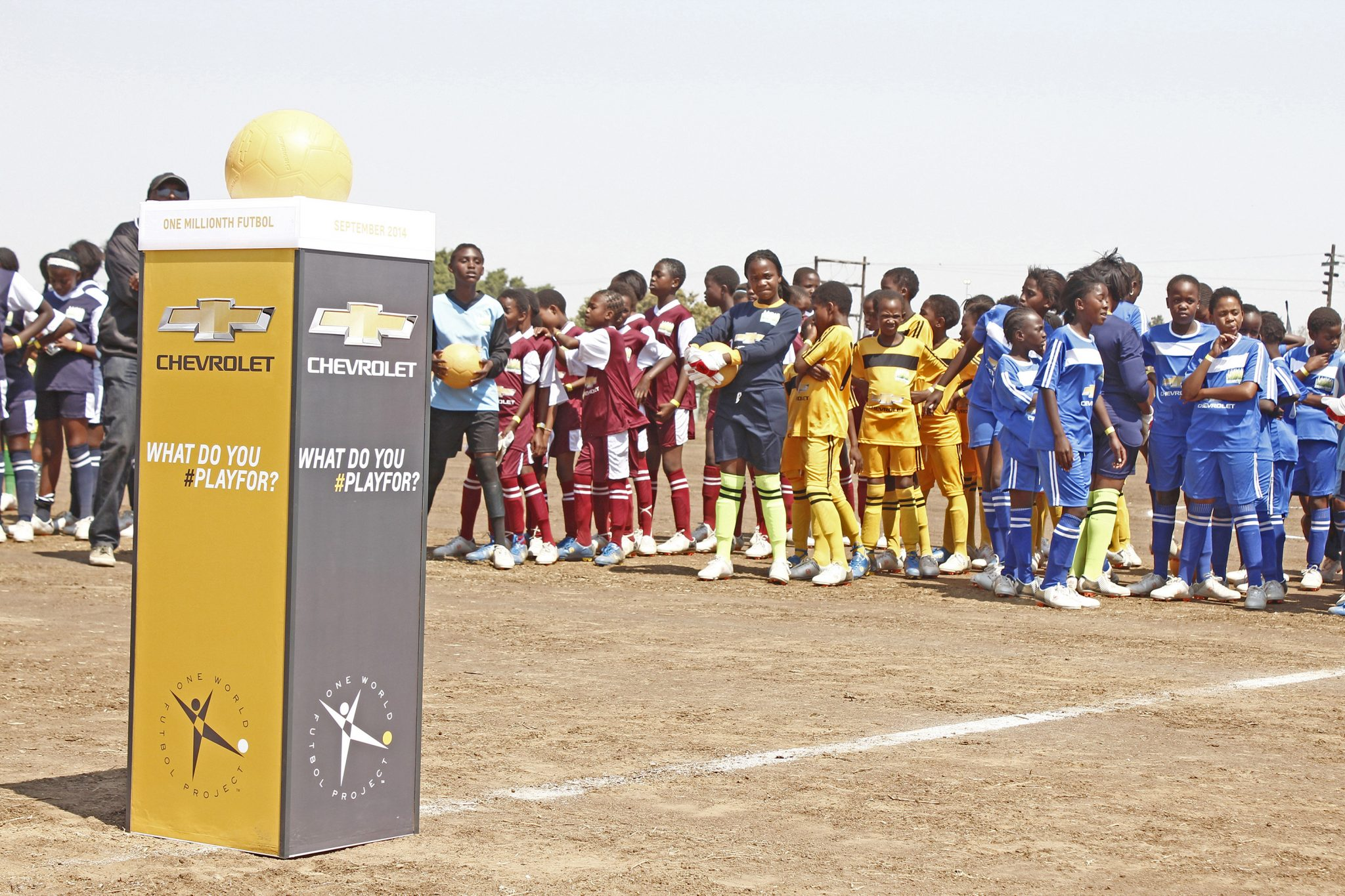 Chevy Rebuilds Football Pitch for South African School