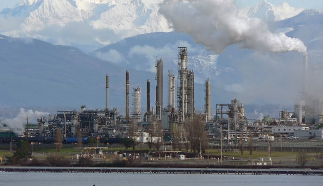 An oil refinery in Washington state