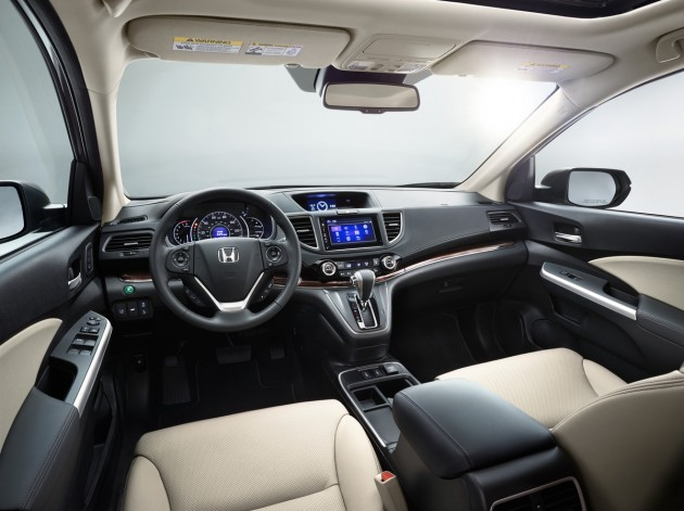 The CR-V's interior received some nice upgrades and a restyling for 2015