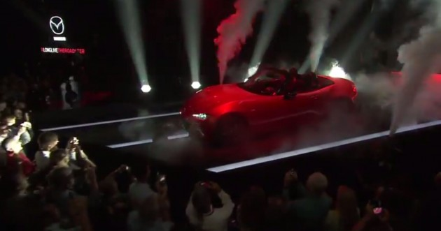 2016 Mazda MX-5 Miata Show Revealed Red 3