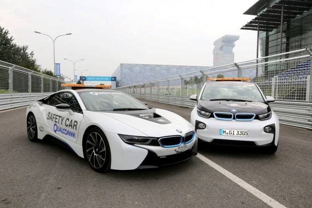BMW i8 Safety Car Rattles Qualcomm Inventors