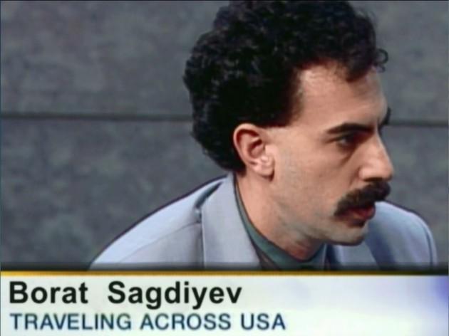 Sacha Baron Cohen as Kazakh reporter Borat Sagdiyev