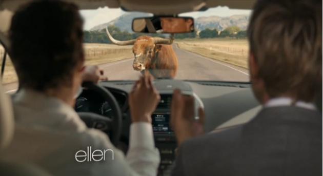 Ellen spoofs McConaughey Lincoln ad