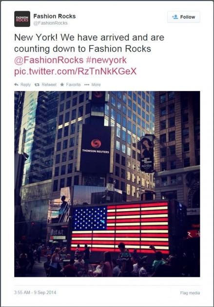 Fashion Rocks Tweet 1