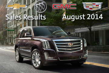GM's 2014 August Sales Results