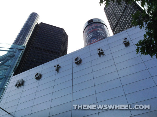 Check out the GMC Monday Night Football Wrap on the Renaissance Center.