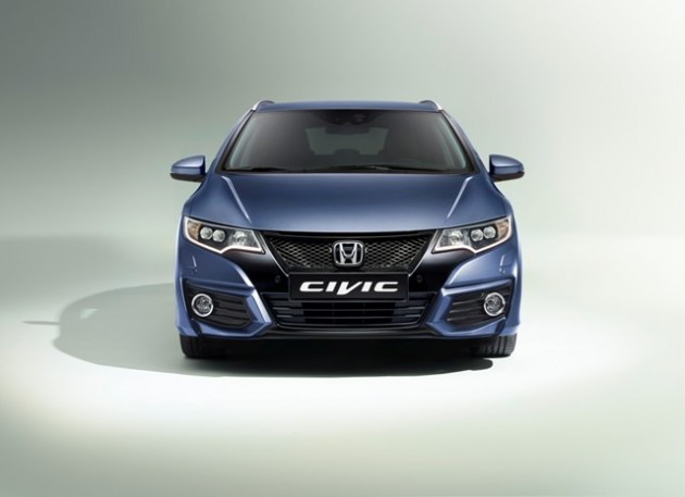 The Honda Civic Tourer, one of three models that will be equipped with Honda Connect next year in Europe