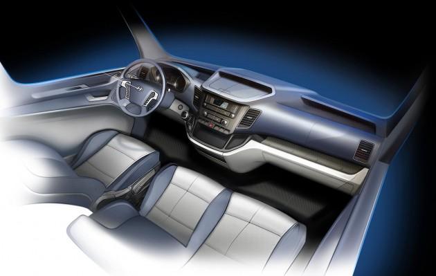Hyundai H350 Van Sketch Interior