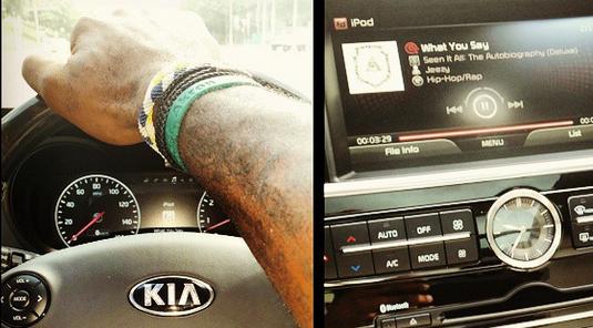 King James has taken his talents to the interior of a Kia K900