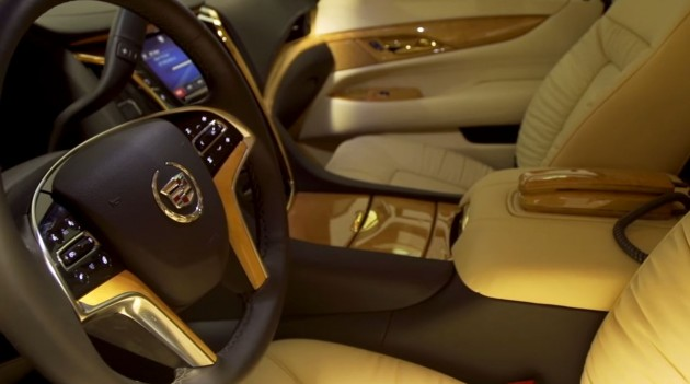 The cabin of the Lexani 2015 Concept One Cadillac Escalade