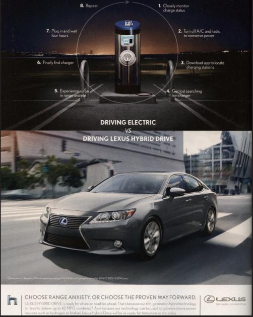 Lexus Anti-EV ad