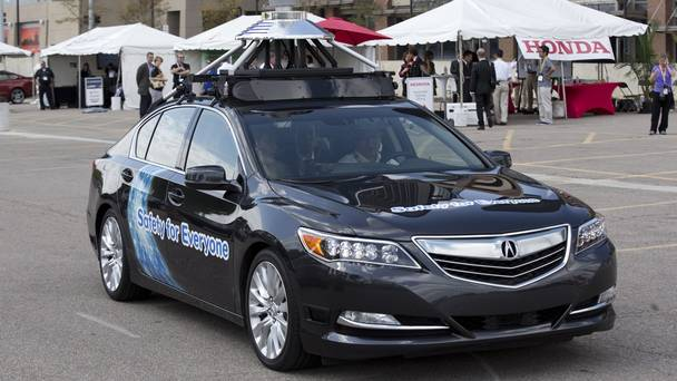 Self-Driving Honda Acura RLX